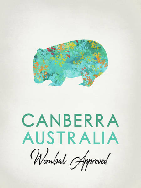 Canberra Australia Wombat Poster