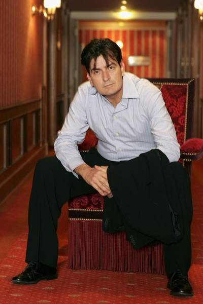 Cannes - Charlie Sheen - Portraits Poster