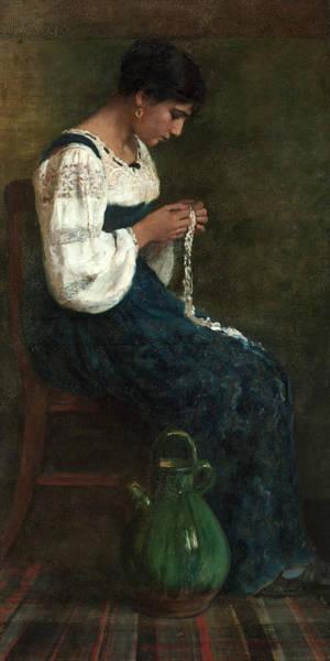 Capri Lace Maker, 1884 Poster