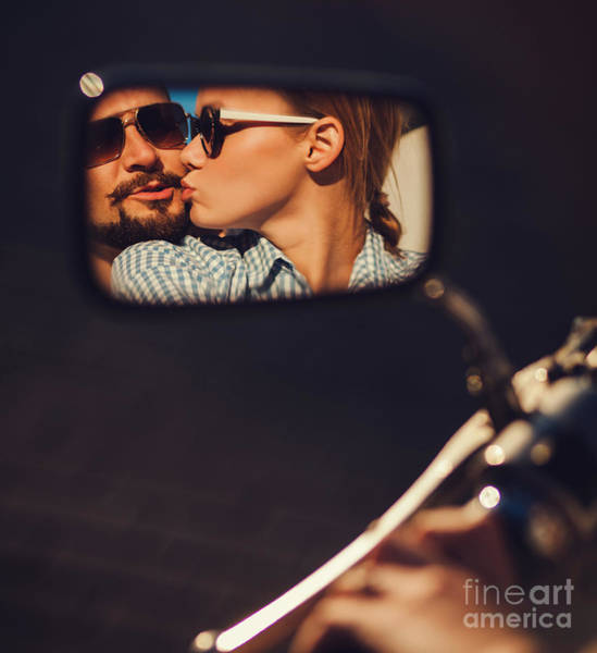 Carefree Young Couple In Sunglasses Poster