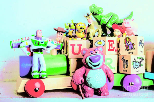 Carriage Of Cartoon Characters Poster