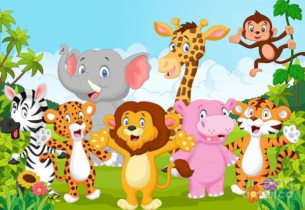 Cartoon Happy Little Animal Poster