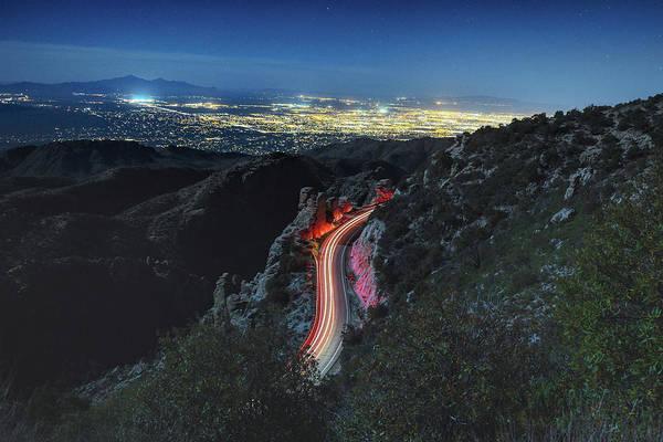Catalina Highway Moonlight Poster