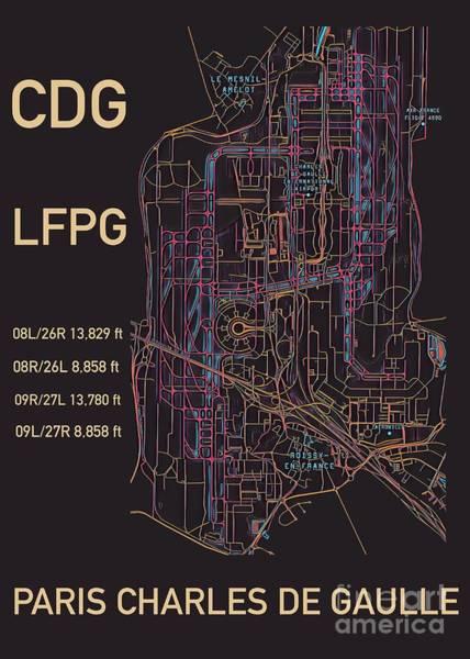 Cdg Paris Airport Poster