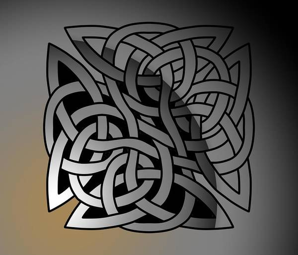 Poster featuring the drawing Celtic Shield Knot 7 by Joan Stratton