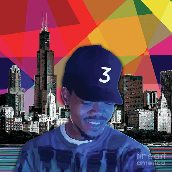 Poster featuring the painting Chance Chicago by Carla B