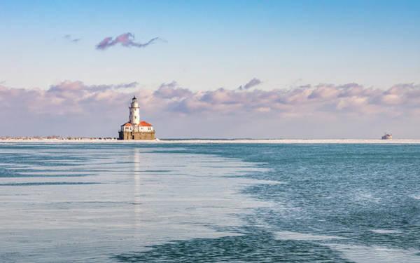 Chicago Harbor Light Landscape Poster