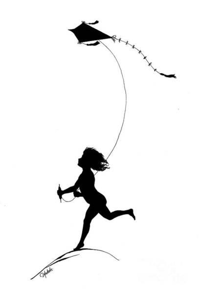 Child Flying A Kite From Gottliche Jugen Ein Tag Aus Dem Sonnenlande Poster