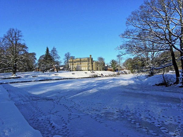 Chorley. Astley Hall In The Snow Poster