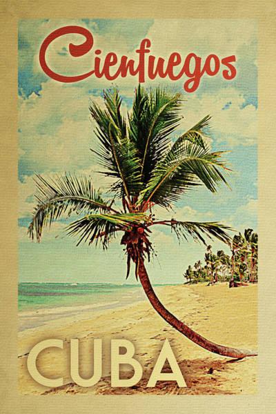 Cienfuegos Cuba Palm Tree Poster