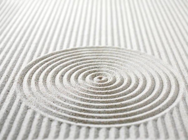 Circles And Lines In Sand Poster