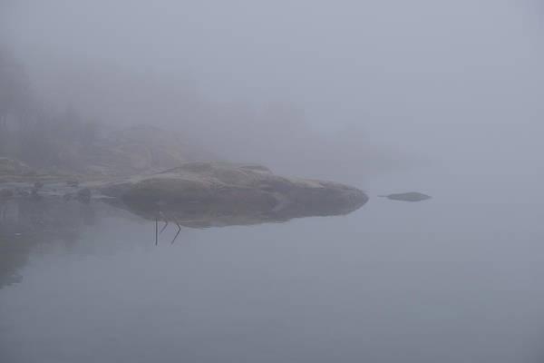 Cliffs In Fog Poster