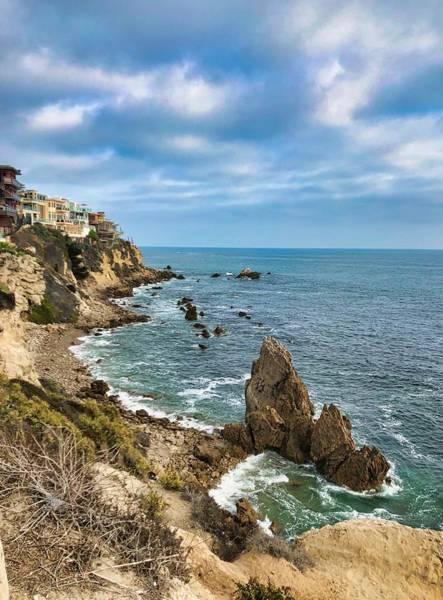 Cliffs Of Corona Del  Mar Poster