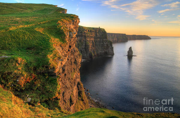 Cliffs Of Moher At Sunset - Ireland Poster