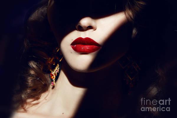 Closeup Of The Face Belong To Beautiful Poster