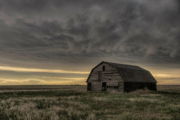 Clouds And Barn Poster