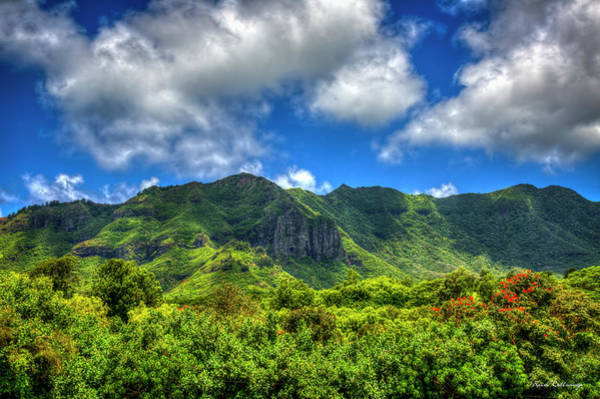 Cloudy Shade Castle Mountain Top Lihue Kauai Hawaii Art  Poster