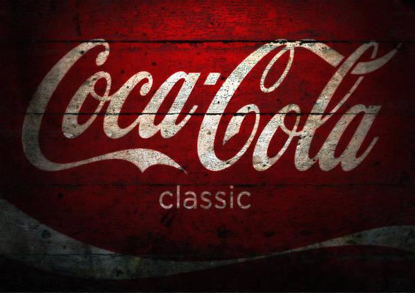 Coca Cola Wood Wall Sign Poster