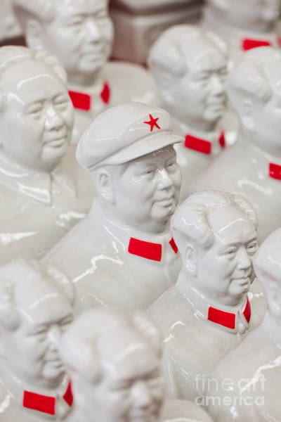 Collection White Mao Zedong Sculptures Poster