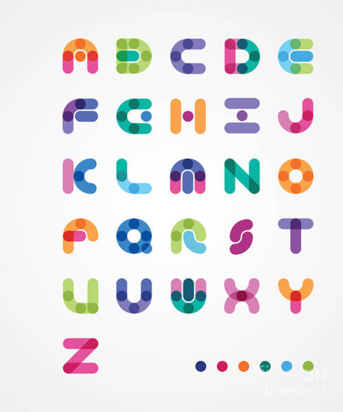 Colorful Abstract Font Poster