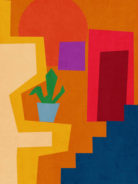 Colorful Geometric House 1- Art By Linda Woods Poster