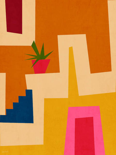 Colorful Geometric House 2- Art By Linda Woods Poster