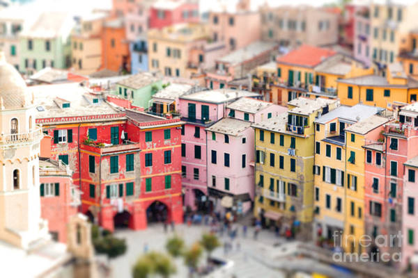 Colorful Houses Of Vernazza With Poster