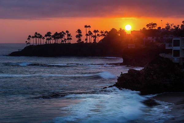 Colorful Laguna Beach Sunset Poster