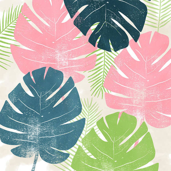 Colorful Palm Leaves 1- Art By Linda Woods Poster