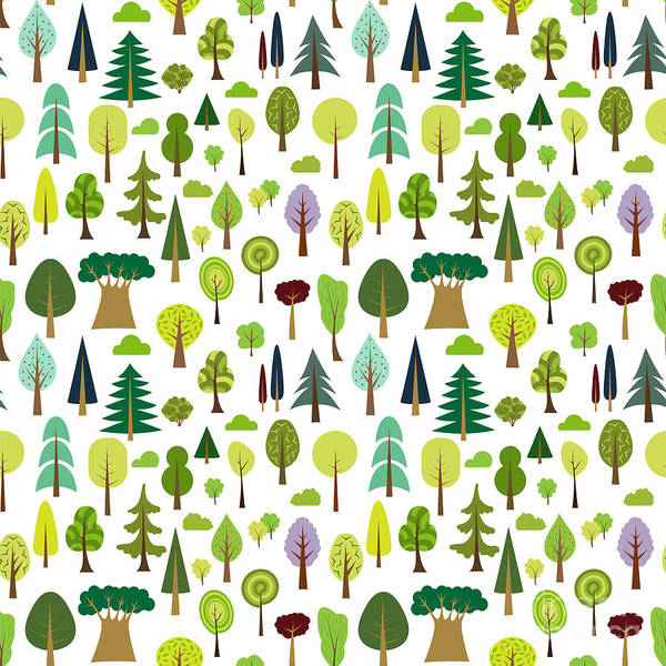 Colorful Seamless Pattern Of Different Poster