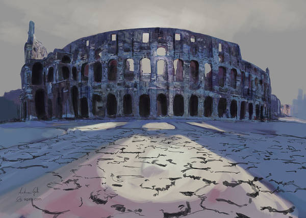 Colosseum Painting Poster