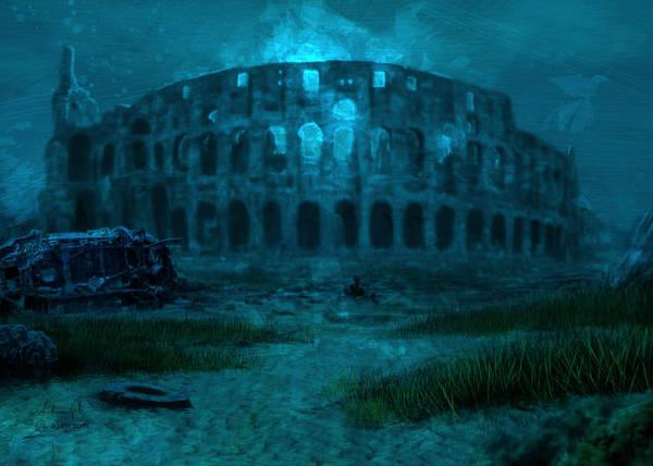 Colosseum Sea Poster
