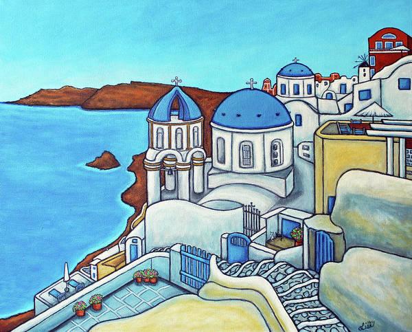 Colours Of Santorini Poster