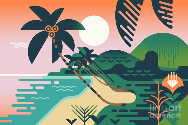 Cool Vector Summer Vacation Exotic Poster