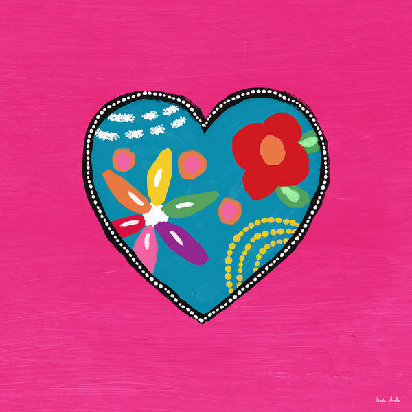 Corazon 2- Art By Linda Woods Poster