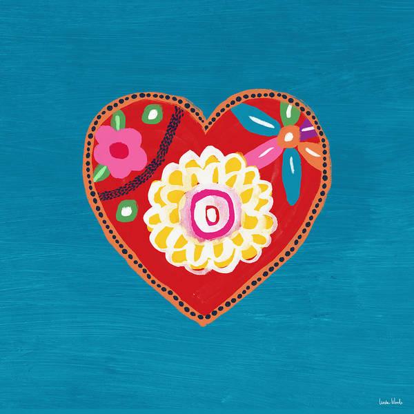 Corazon 3- Art By Linda Woods Poster