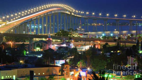 Coronado Bay Bridge Shines Brightly As An Iconic San Diego Landmark Poster