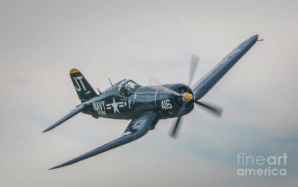 Poster featuring the photograph Corsair Approach by Tom Claud