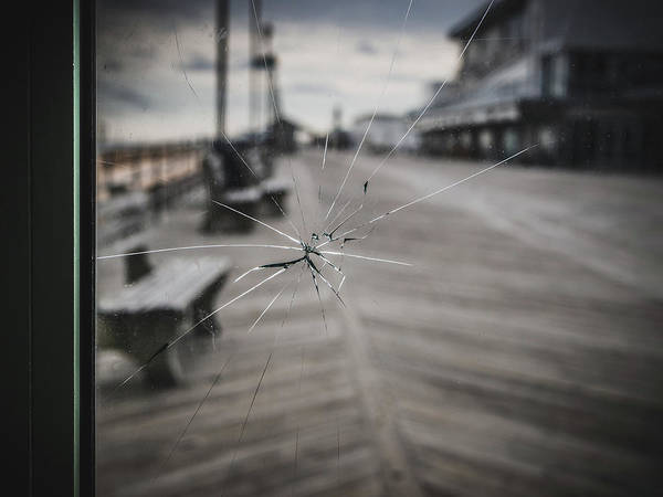 Poster featuring the photograph Crack by Steve Stanger