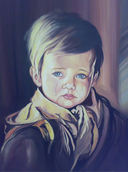 Crying Child Poster