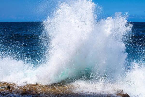 Cuba. Island. Ocean. Sea. Waves Poster
