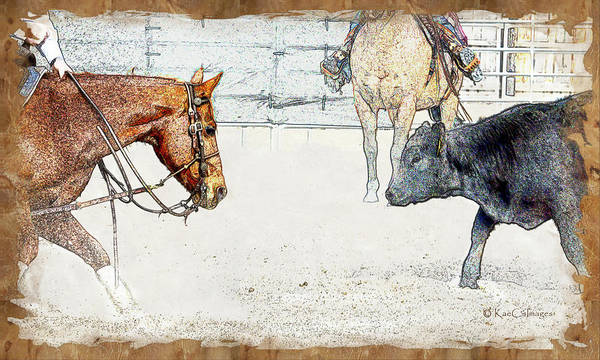 Cutting Horse At Work Poster