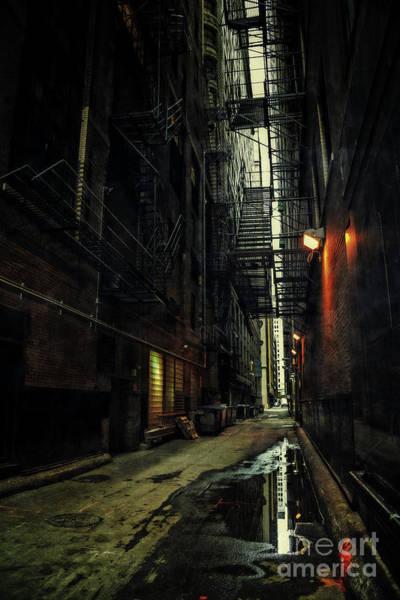 Dark Chicago Alley Poster