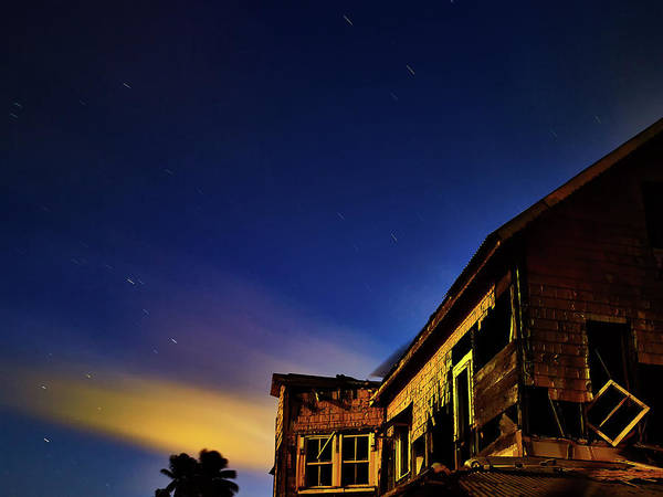 Decaying House In The Moonlight Poster