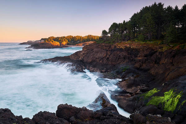 Poster featuring the photograph Depoe Bay Sunrise by Whitney Goodey
