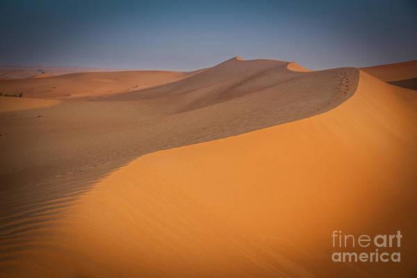 Desert Landscape In Dubai Poster
