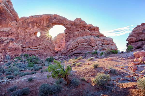 Desert Sunset Arches National Park Poster