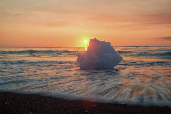 Diamond Beach Sunrise Iceland Poster