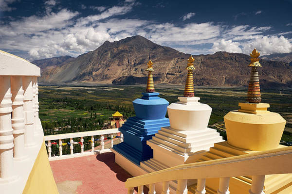 Poster featuring the photograph Diskit Gompa by Whitney Goodey