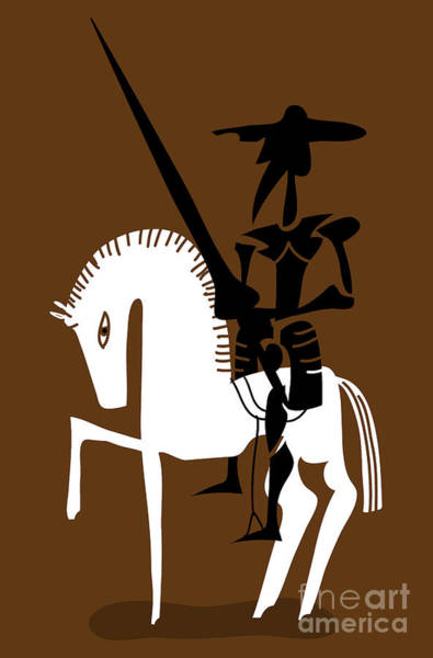 Don Quixote Knight And His Horse Poster